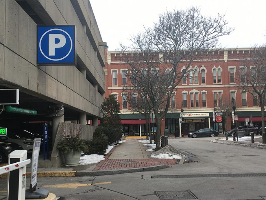 Parking Garage is across Hanover Street